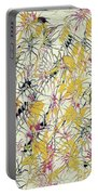 Bumble Bees Against The Windshield - V1cs65 Portable Battery Charger