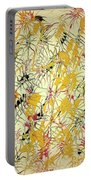Bumble Bees Against The Windshield - V1ls75 Portable Battery Charger