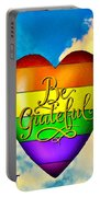 Be Grateful Gay Heart Portable Battery Charger