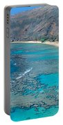 Beach And Haunama Bay, Oahu, Hawaii Portable Battery Charger