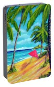 Beach And Mokulua Islands  #368 Portable Battery Charger