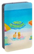 Beach Art - Crazy Lazy Summer Days Portable Battery Charger