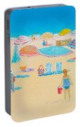 Beach Art - Every Summer Has A Story Portable Battery Charger