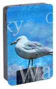 Beach Art Seagull By Sharon Cummings Portable Battery Charger