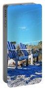 Beach Art - Waiting For Friends - Sharon Cummings Portable Battery Charger