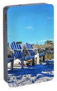 Beach Art - Waiting For Friends - Sharon Cummings Portable Battery Charger
