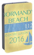 Beach Badge Normandy Beach 2 Portable Battery Charger