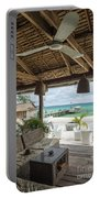 Beach Bar In Sok San Area Of Koh Rong Island Cambodia Portable Battery Charger