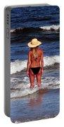 Beach Blonde - Digital Art Portable Battery Charger