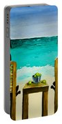 Beach Bums Portable Battery Charger by Roger Wedegis