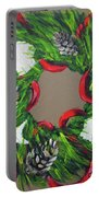 Beach Christmas Wreath Portable Battery Charger