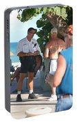 Beach Cops And Christ Portable Battery Charger