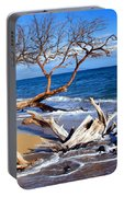 Beach Driftwood Fine Art Photography Portable Battery Charger