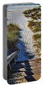 Beach Footprints - Boca Grande Florida Portable Battery Charger
