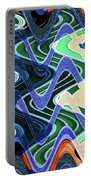 Beach Hotel Abstract 8102-3 Portable Battery Charger