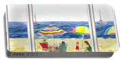 Beach House Window Portable Battery Charger