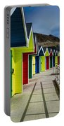 Beach Huts At Barry Island Portable Battery Charger