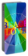 Beach Love Umbrella Spca Portable Battery Charger