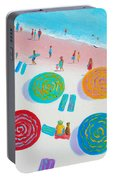 Beach Painting - A Walk In The Sun Portable Battery Charger