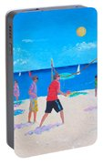 Beach Painting Beach Volleyball  By Jan Matson Portable Battery Charger