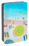Beach Painting - Lazy Lingering Days Portable Battery Charger