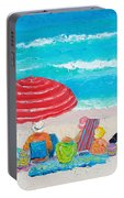 Beach Painting - One Summer Portable Battery Charger