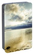 Beach Panorama Of A Sunrise Over The Sea Portable Battery Charger