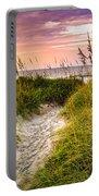 Beach Path Sunrise Portable Battery Charger