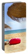 Beach Relaxing Portable Battery Charger by Carlos Caetano