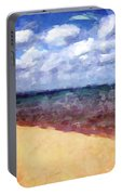 Beach Under Blue Skies Portable Battery Charger