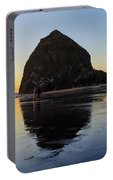 Beachcombers By Haystack Rock In Cannon Beach Portable Battery Charger
