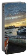 Beached Boats On Trocadero Pipe Puerto Real Cadiz Spain Portable Battery Charger