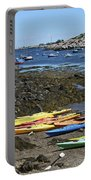 Beached Kayaks At Rockport Harbor Portable Battery Charger