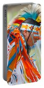 Beaded Pow Wow Dancer Portable Battery Charger