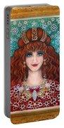 Sarah Goldberg Beauty Queen. Beadwork Portable Battery Charger