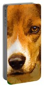 Beagle Hound Dog In Oil Portable Battery Charger