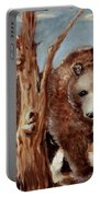 Bear And Stump Portable Battery Charger