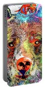 Bear Colored Grunge Portable Battery Charger