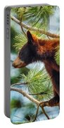 Bear Cub In A Tree 3 Portable Battery Charger