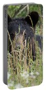 Bear In Tall Grass Portable Battery Charger