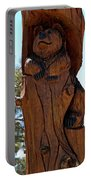 Bear In Wood Portable Battery Charger