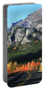 Bear Lake Road In Autumn Portable Battery Charger