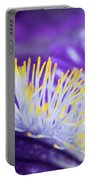 Bearded Iris Macro Portable Battery Charger