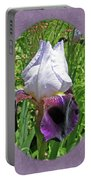 Bearded Iris Blossom Portable Battery Charger