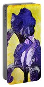 Bearded Iris Portable Battery Charger