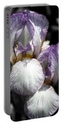 Bearded Irises Partial Color Portable Battery Charger