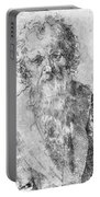 Bearded Man Portable Battery Charger