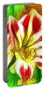 Beautiful Amaryllis Flower Portable Battery Charger