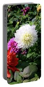 Beautiful And Fresh Dahlias In The Butchrt  Gardens,vancouver Island 1. Portable Battery Charger