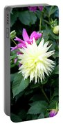 Beautiful And Fresh Dahlias In The Butchrt  Gardens,vancouver Island 2. Portable Battery Charger